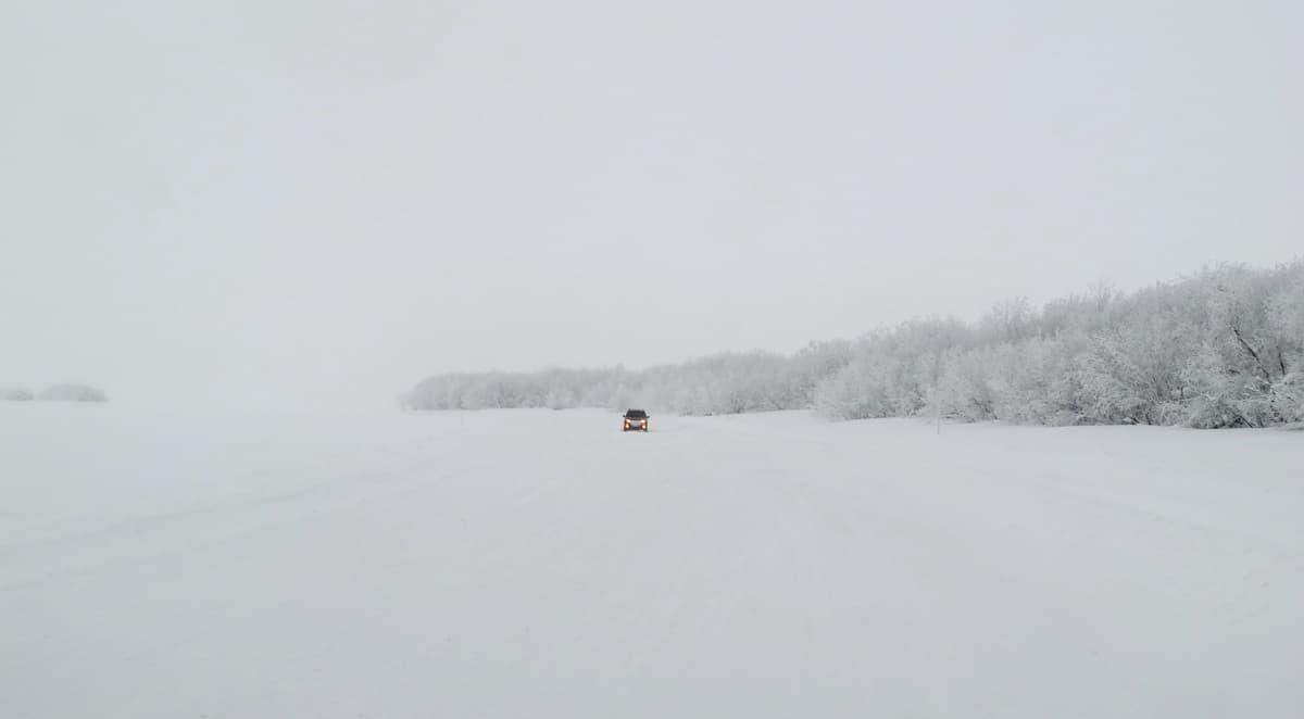 начало метели на зимнике