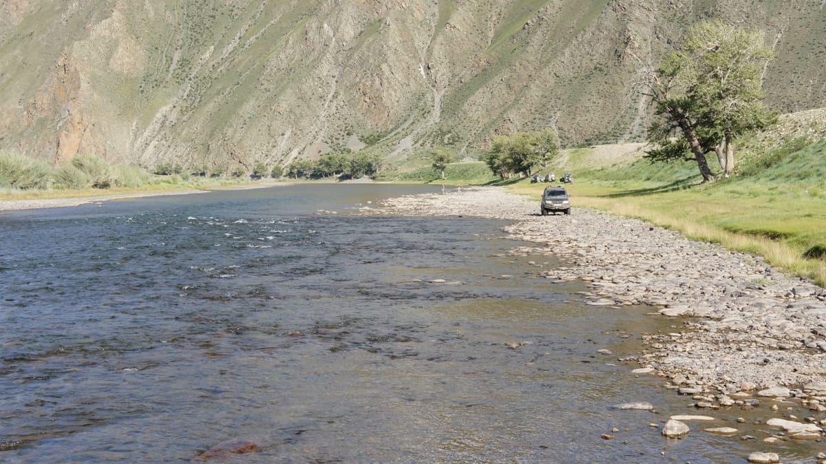 горные реки в монголии, ловля хариуса