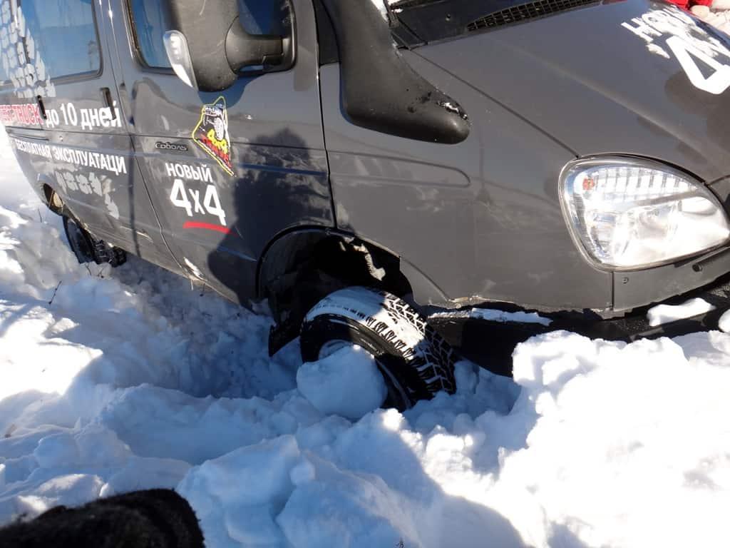 тестируем Соболя в снегу, даже блокировка не помогает