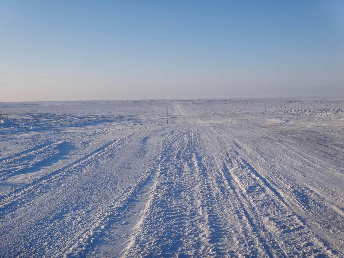 начало зимника Тазовский - Антипаюта