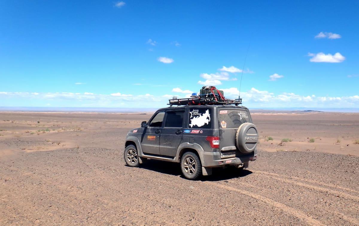 в пустыню Гоби на УАЗ Патриот
