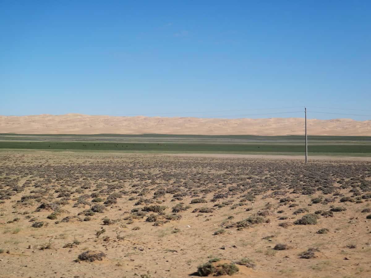 пески по дороге на Хяргас-нуур