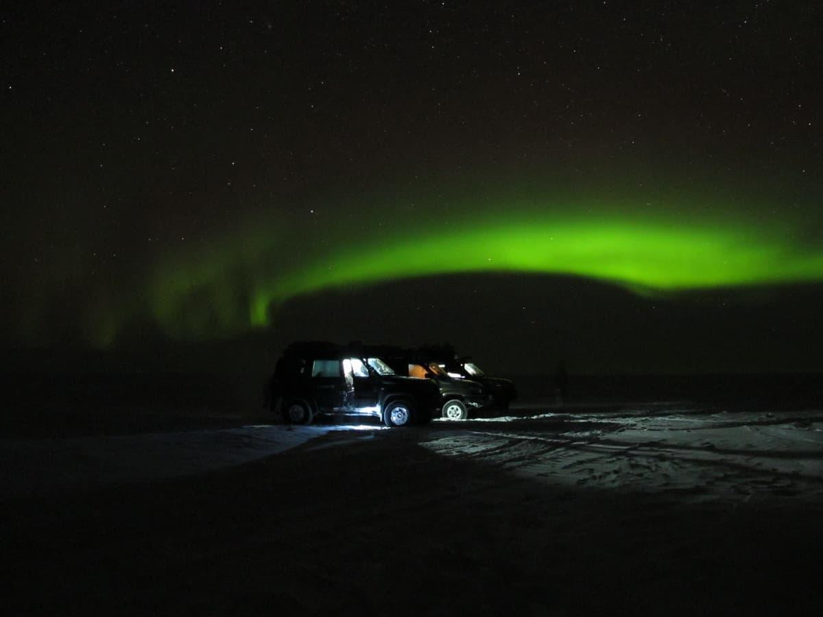 северное сияние на Ямале