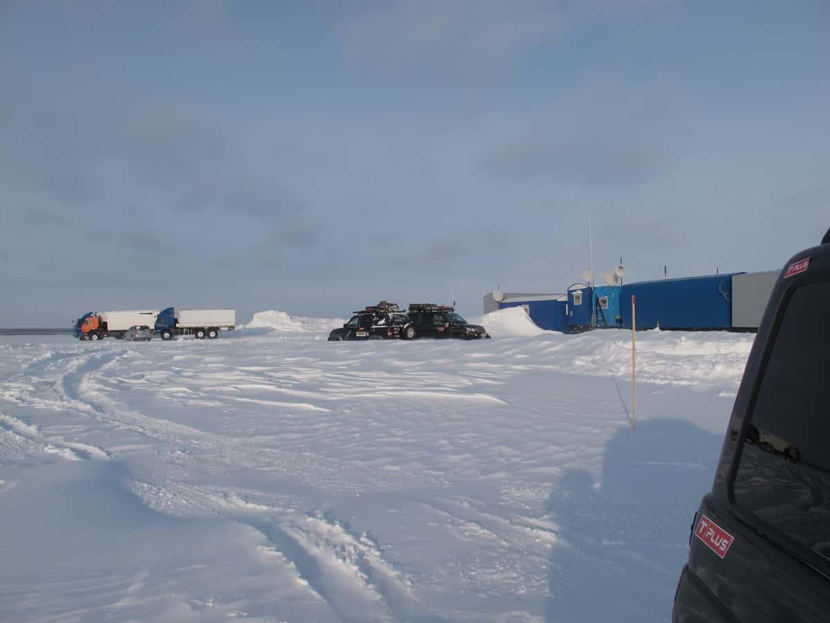 зимник Тазовский - Антипаюта, база дорожников