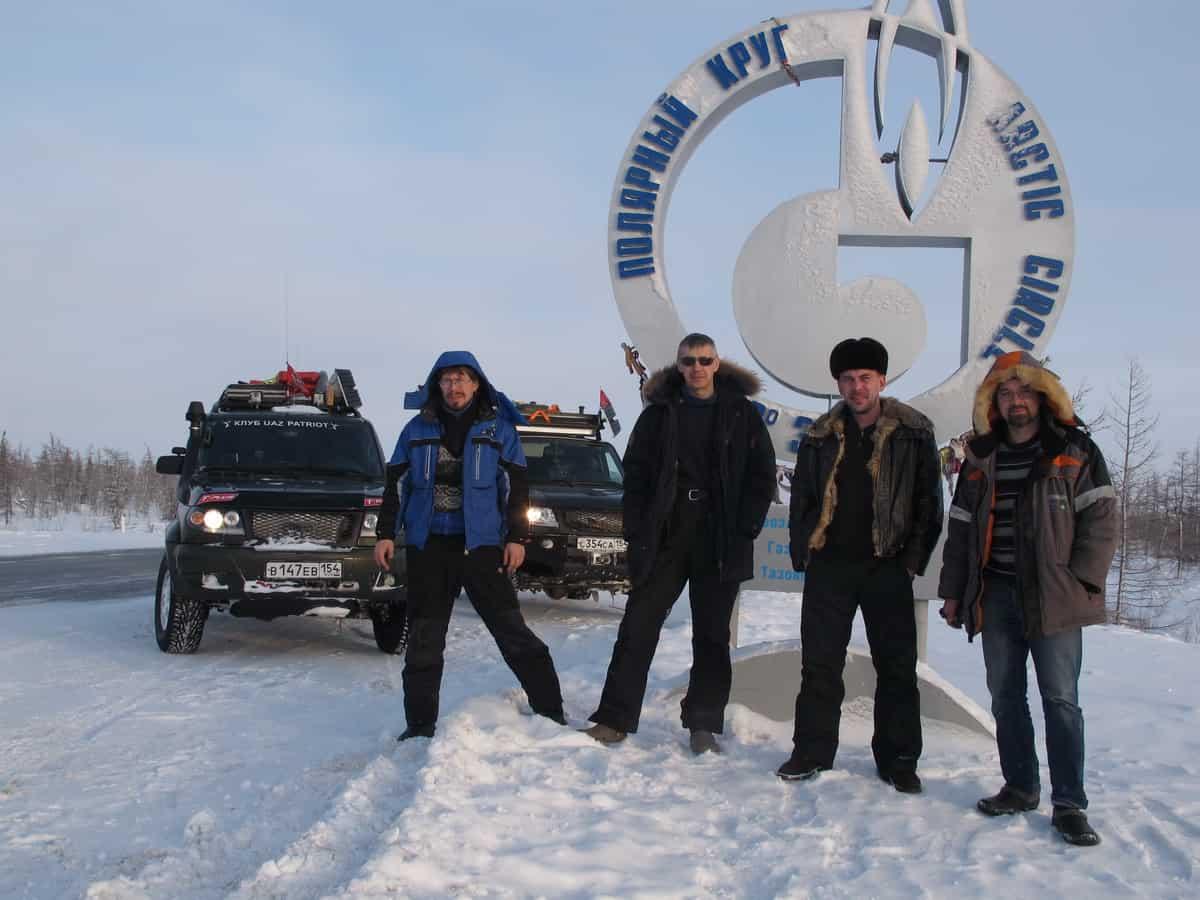 Клуб УАЗ Патриот Новосибирск за Полярным кругом