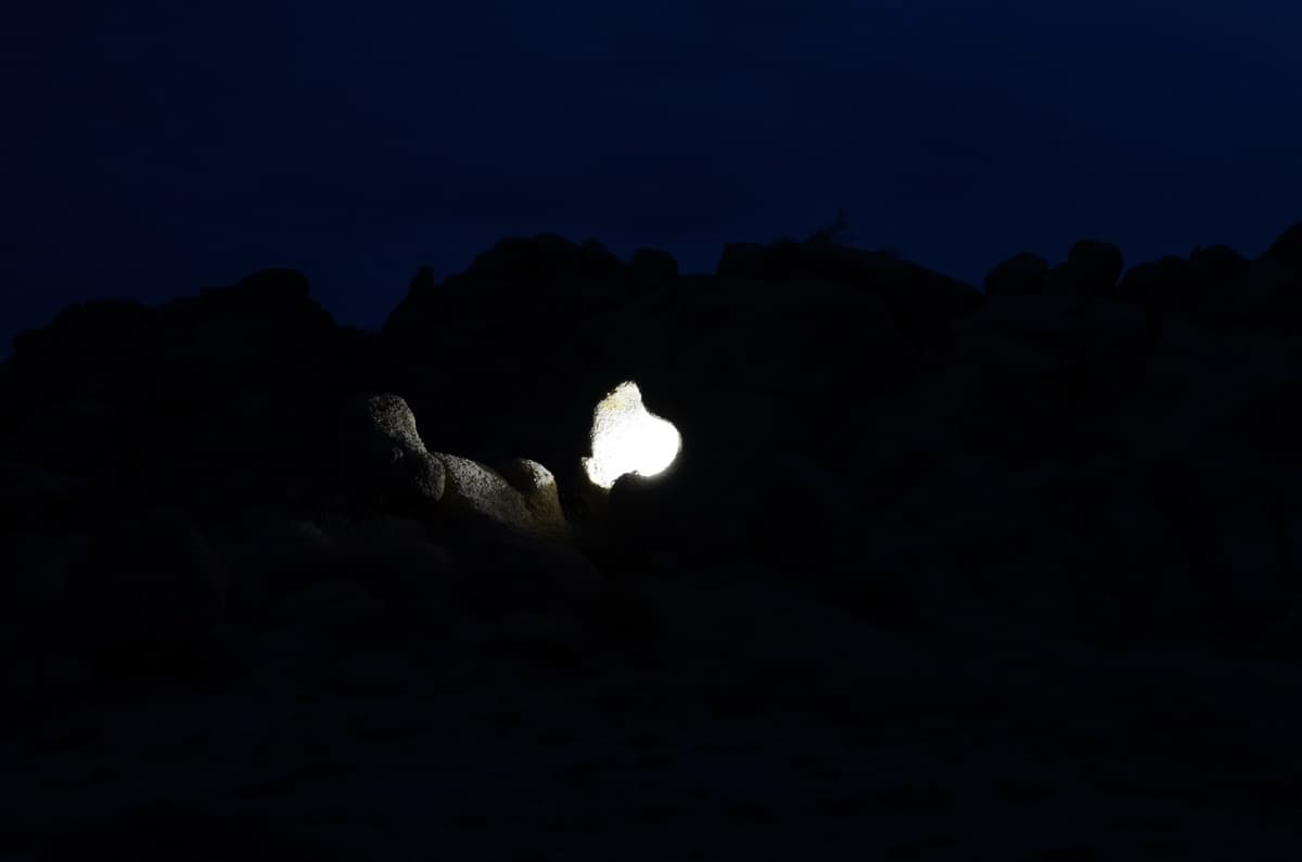 ночь в скалах