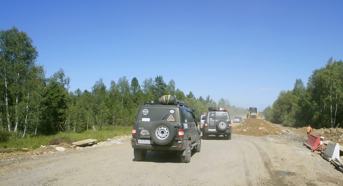 ремонт дороги до Улан-Уде