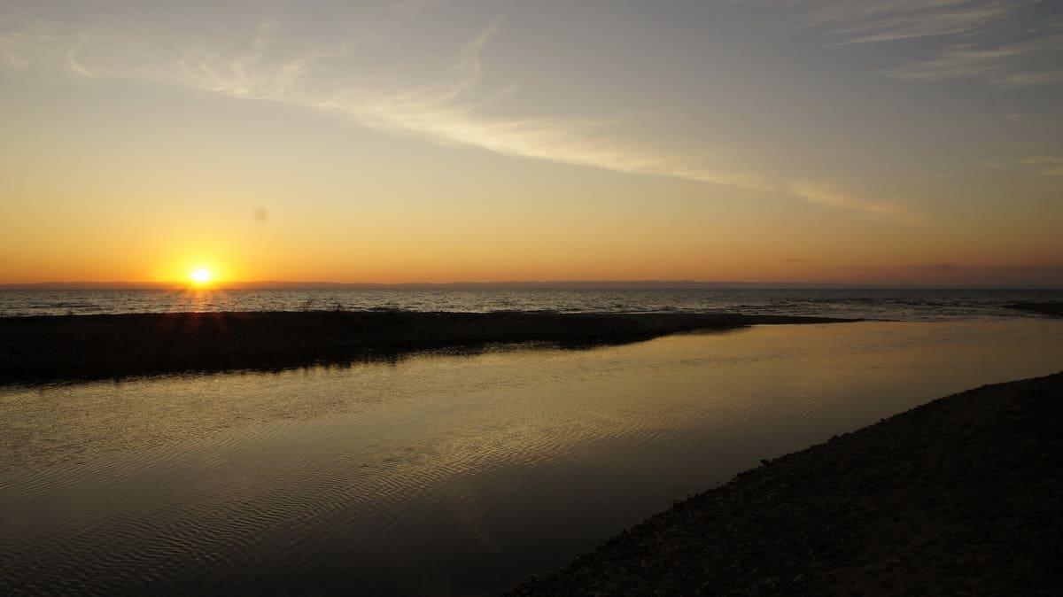 закат, озеро Байкал