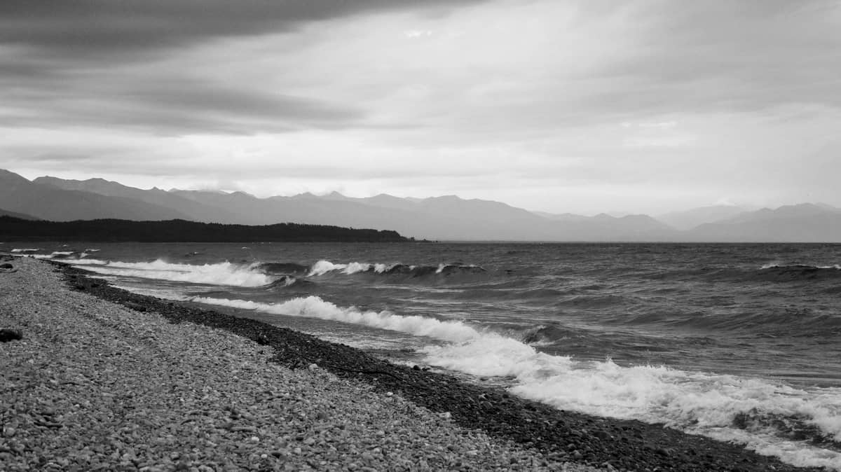 Байкал, шторм, июль