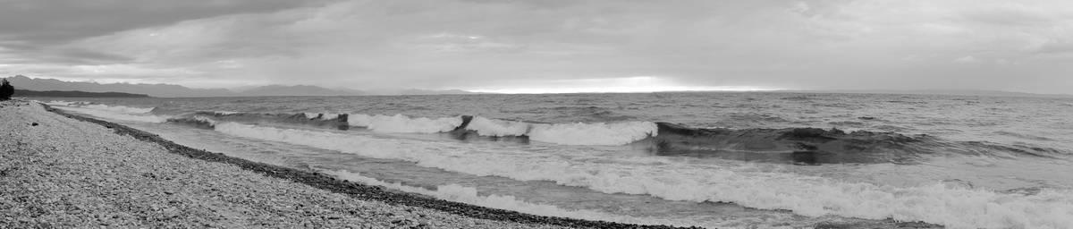 шторм на Байкале, панорама