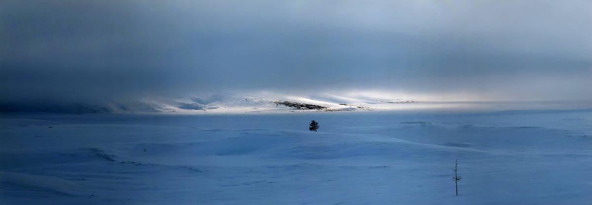понорама полярного урала зимой