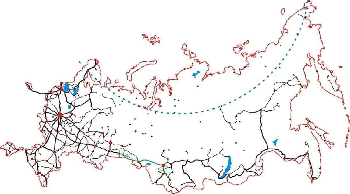 карта дорог России векторный формат