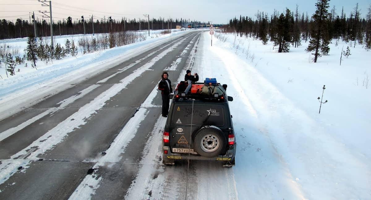 путешественник Алексей Бычков по пути в Надым