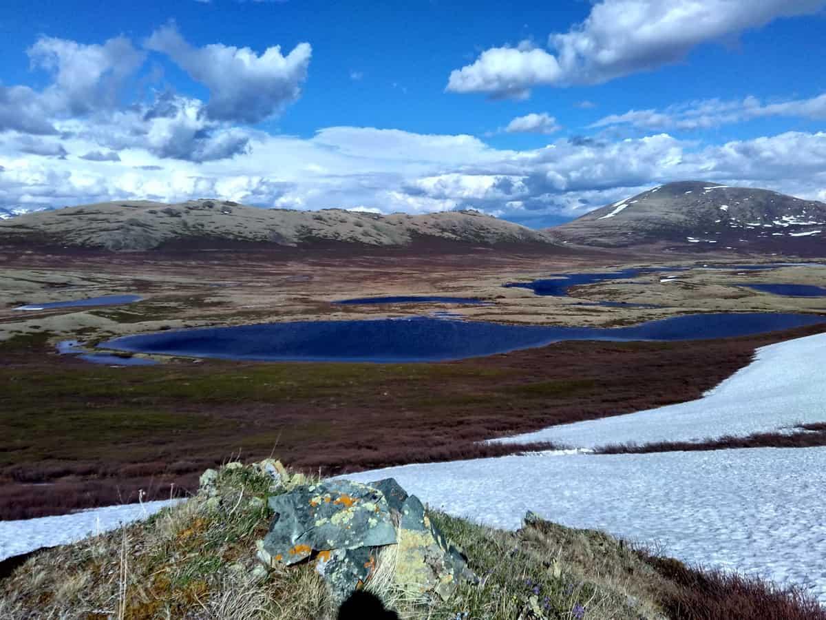 озеро Джангысколь  на плато Ештыкель
