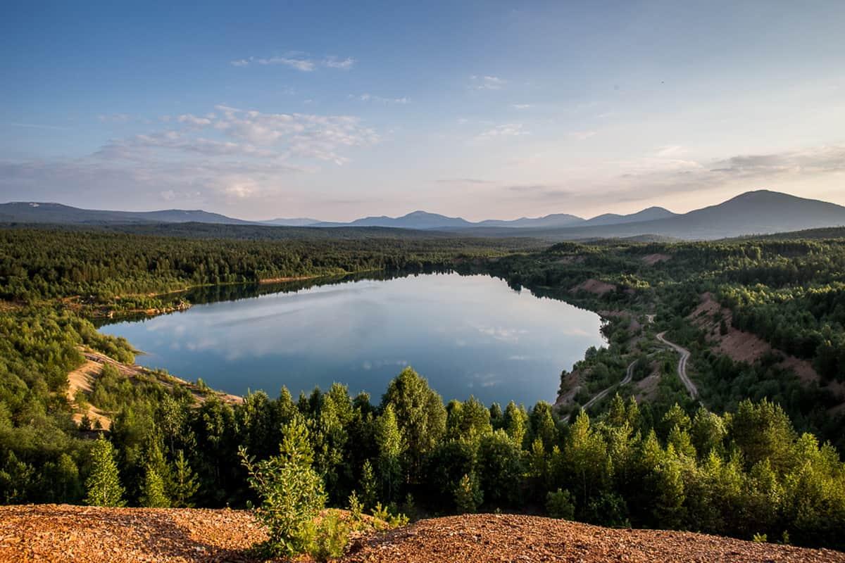 лазурное озеро, Южный Урал, автор - Алексей Климов