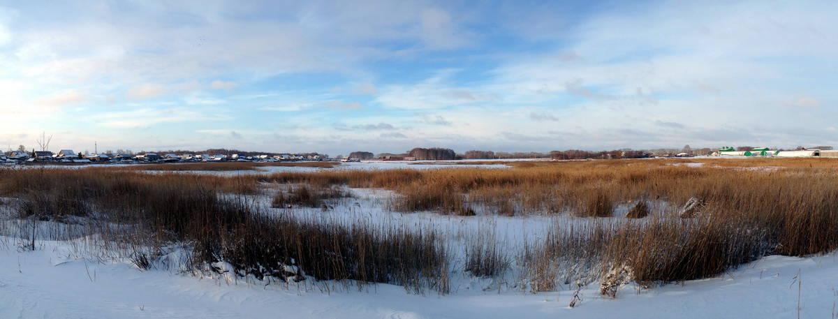 Зауралье, зимняя панорама
