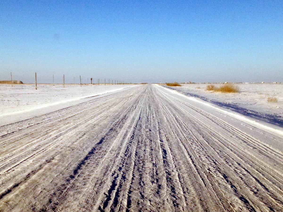 снежный накат на трассе