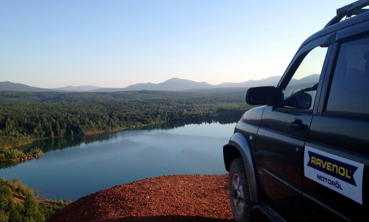 Лазурное озеро на Южном Урале