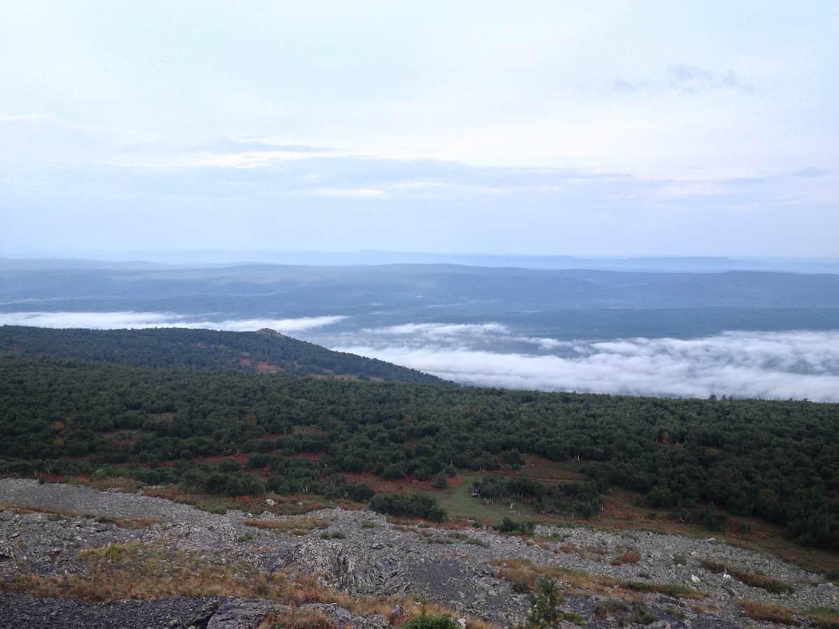 утренний туман в долине Верхнего Авзяна