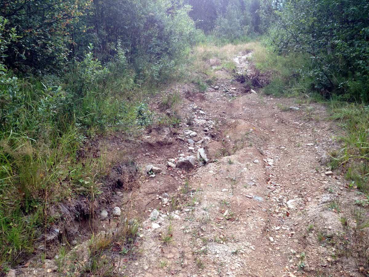 камни и промоины на участке Шатак - Кагарманово