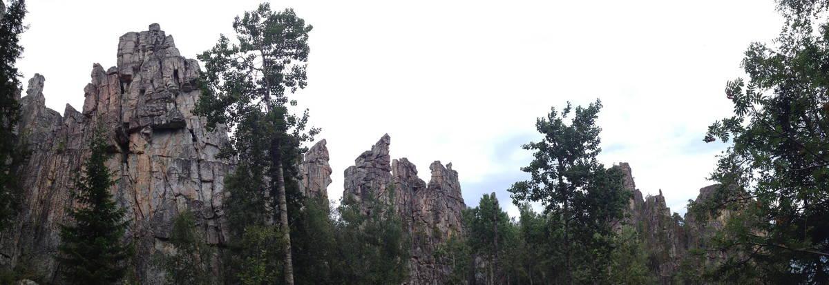 Инзерские зубчатки, панорама