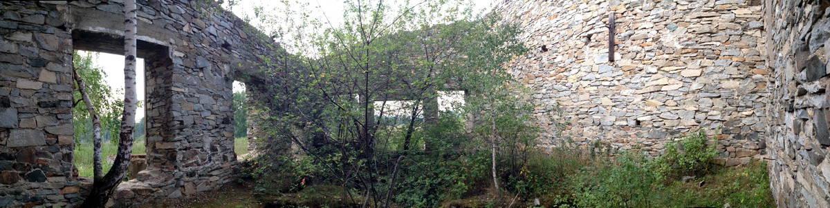 развалины фабрики времен петра I