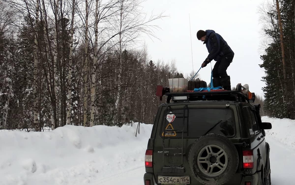 утяжка груза на экспедиционном багажнике