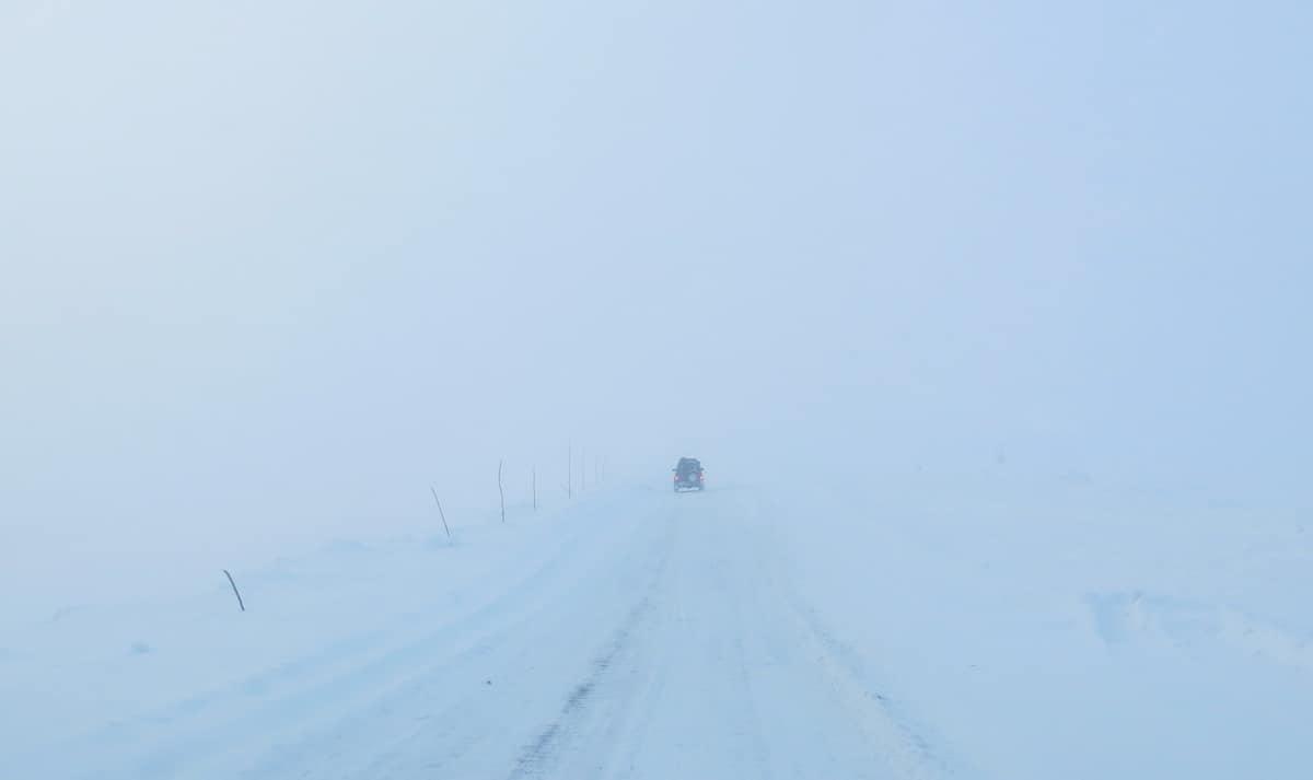 туман в горах Полярного Урала