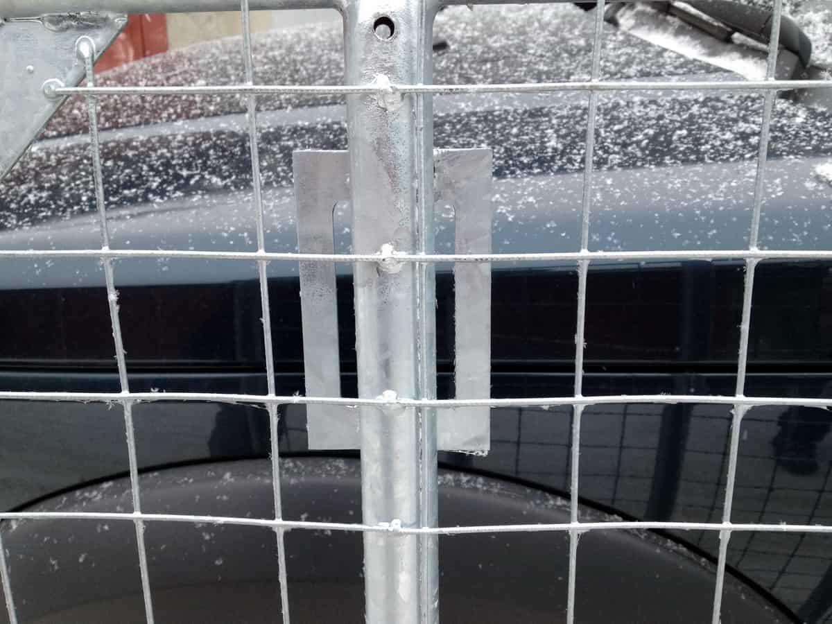 крепление багажника за водосток