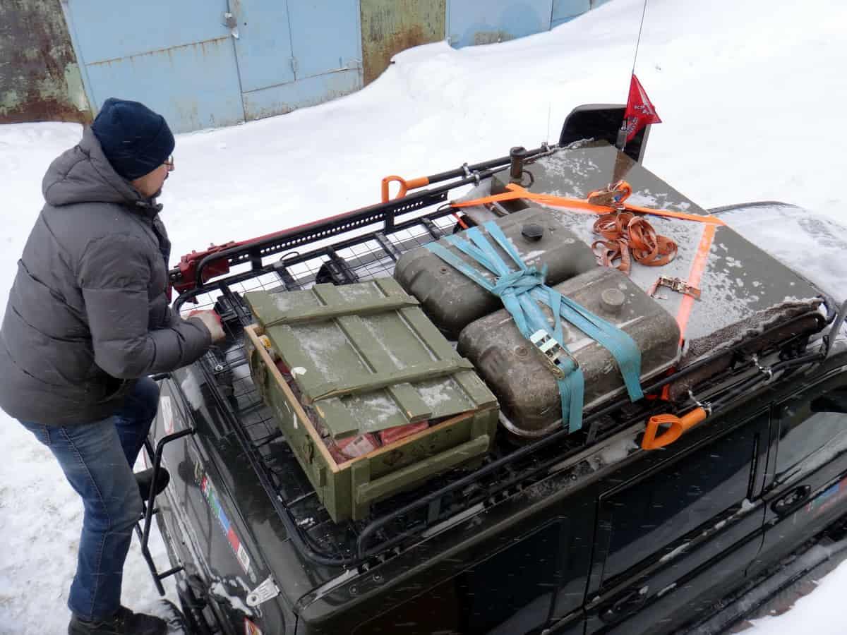экспедиционный багажник на севере