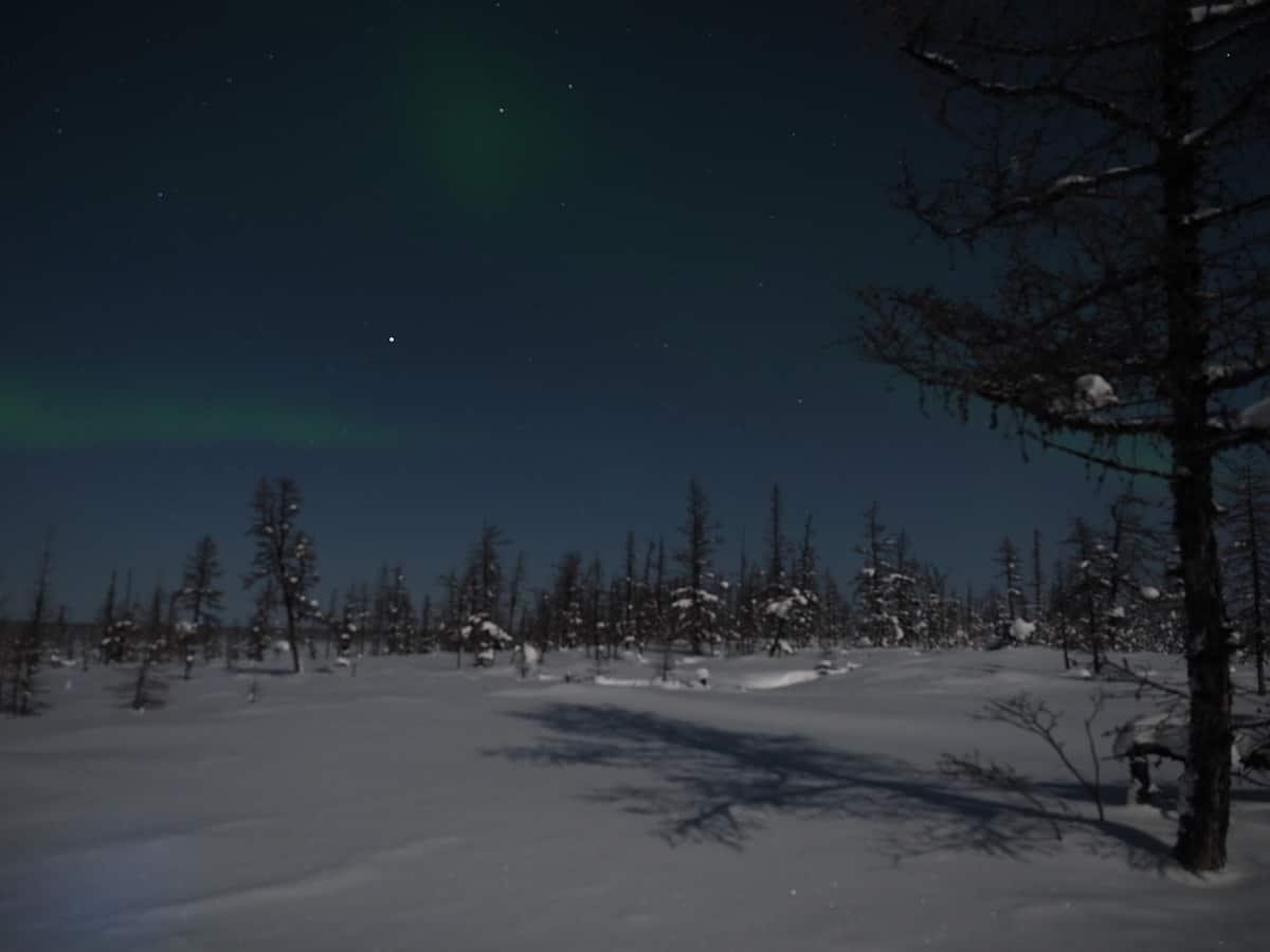 начало северного сияния