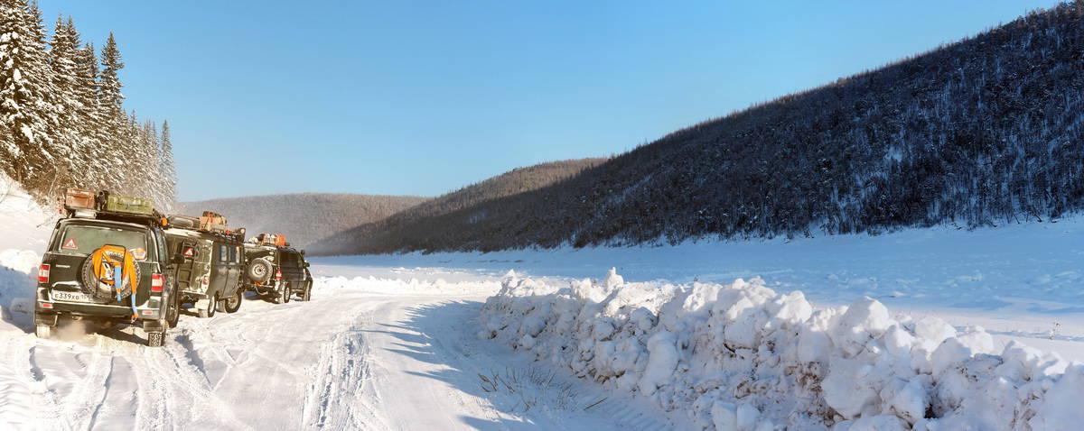 Тунгуска, зимник по реке