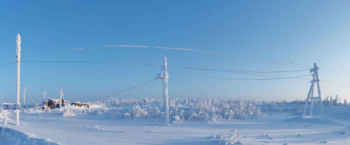снег в Эвенкии