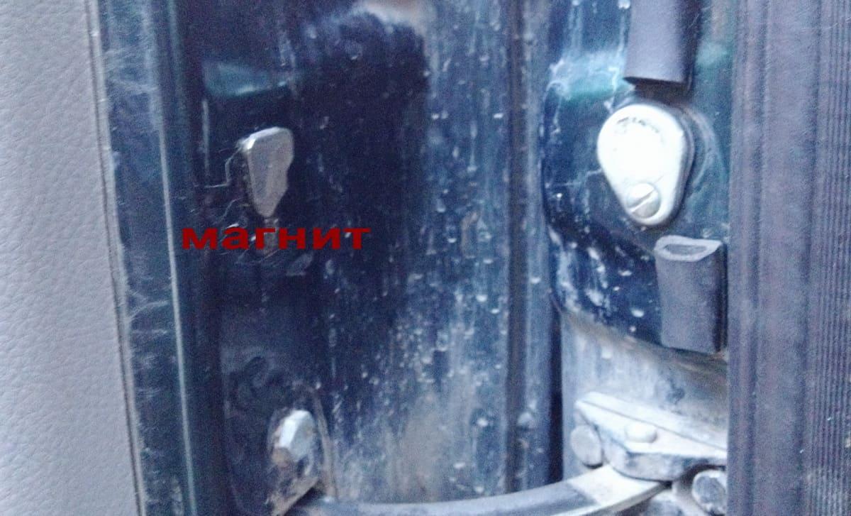 монтаж концевиков двери на герконах
