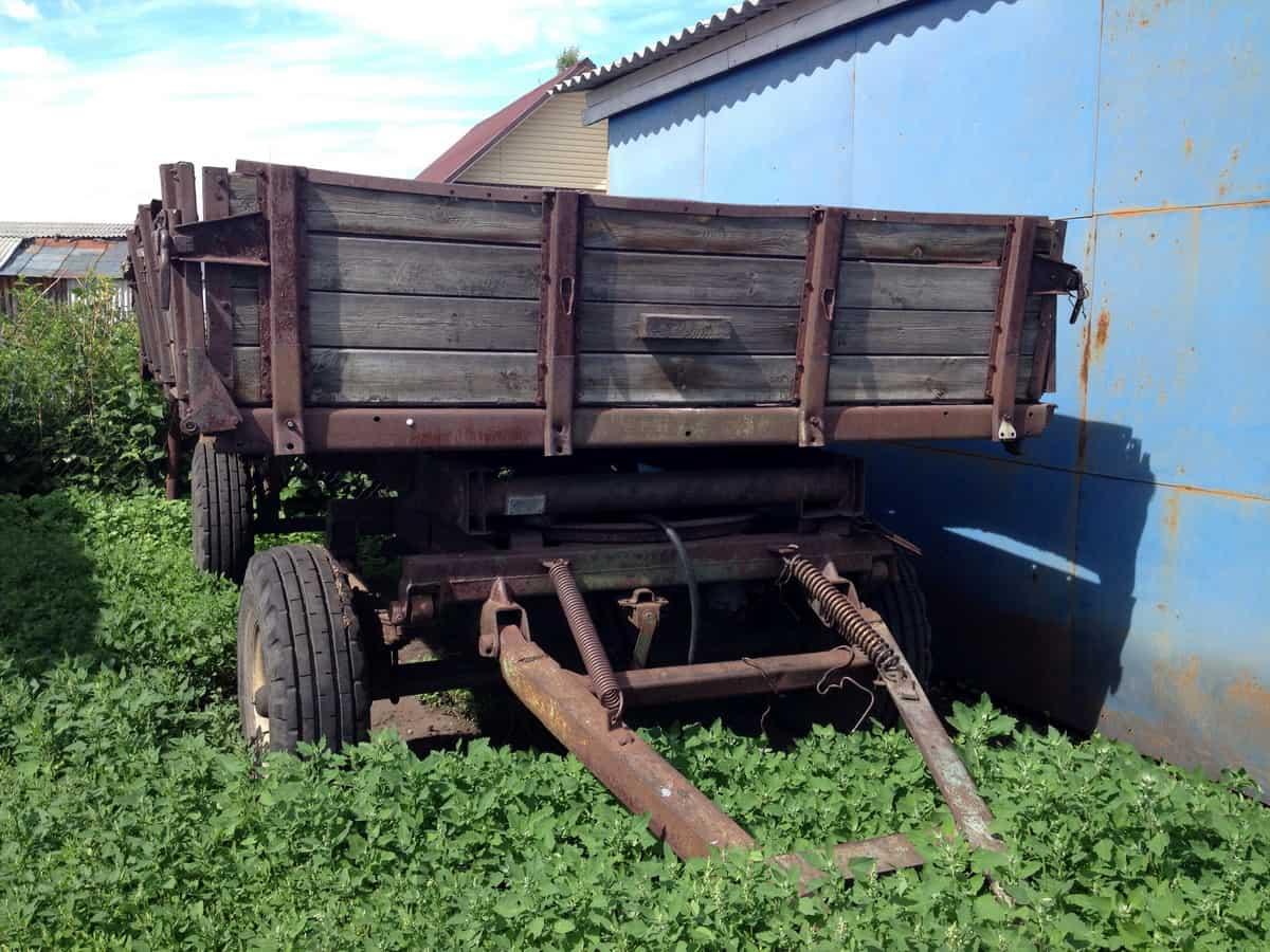 телега тракторная двухосная