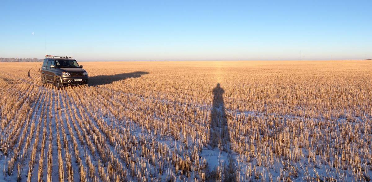 зауралье зимой, панорама