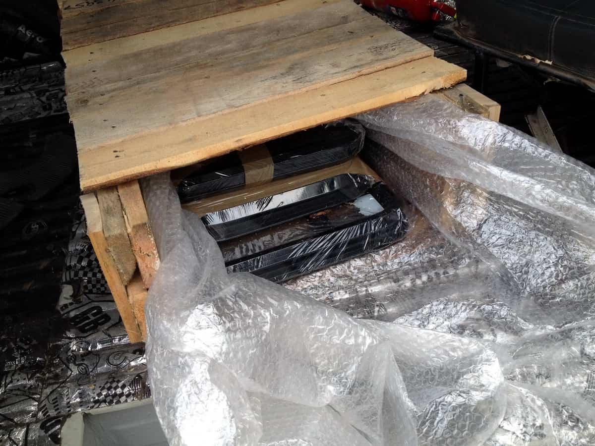 упаковка стекла в транспортной