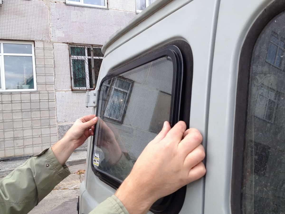 двойное остекление уаз, примерка окна