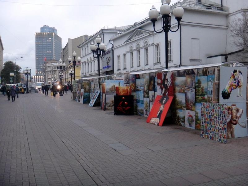 уличные художники на арбате