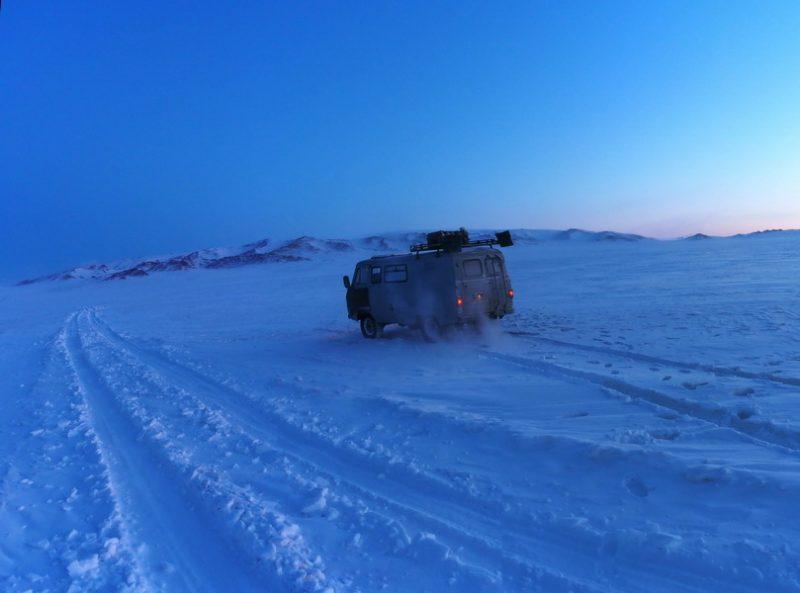 Алексей Бычков в Монголии зимой