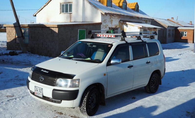 toyota probox зимой в монголии