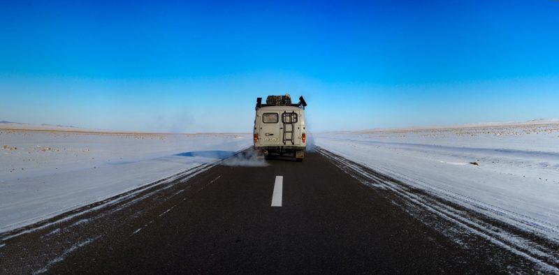 асфальт в Монголии до Улан-Батора