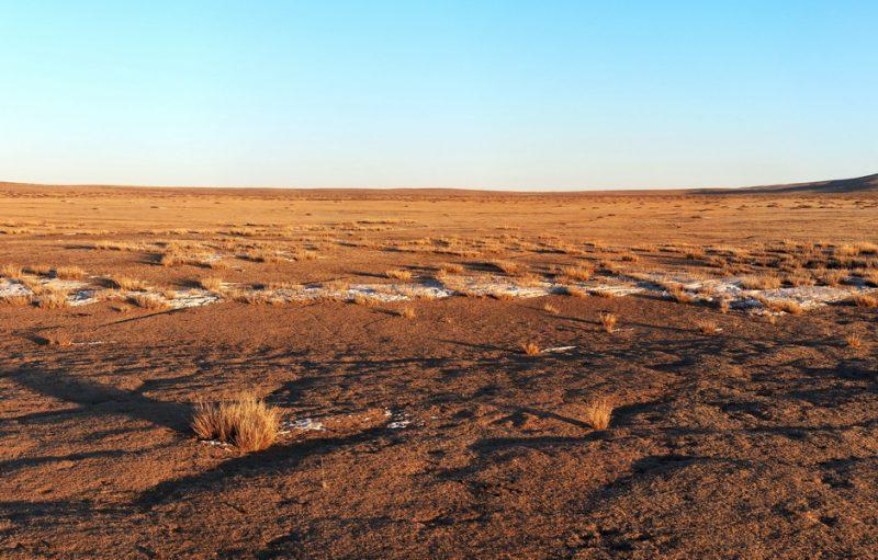зимняя степь, Монголия
