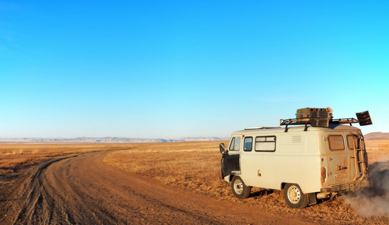 на буханке в Монголию