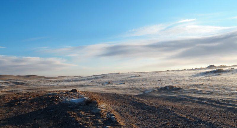 снег в пустыне Гоби