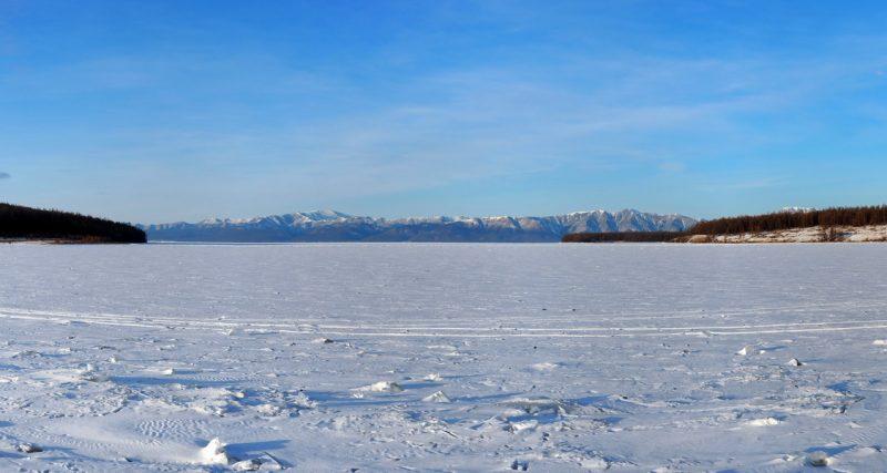 панорама зимнего Хубсугула, Winter Hovsgol nuur Panorama