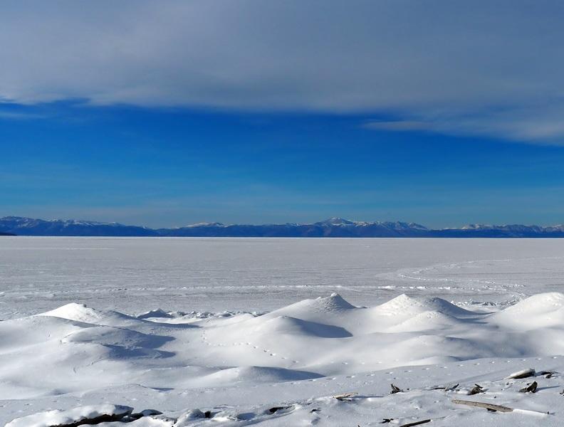 застывший Хубсугул в январе, frozen Khovsgol in january