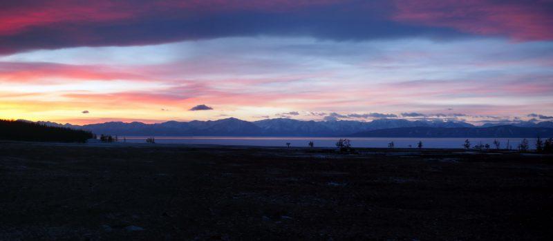 вид на западный берег Хубсугула