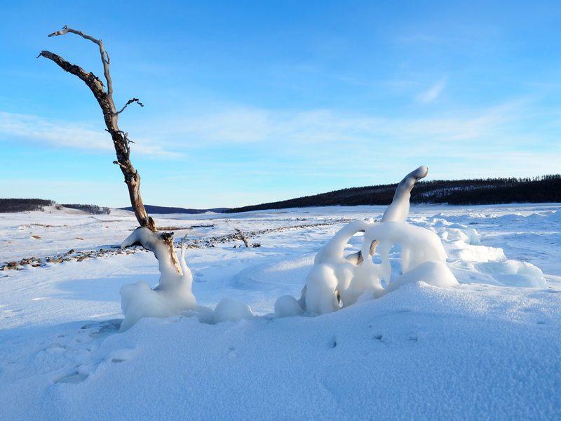 причудливый лёд на озере Хубсугул, ice on Lake Hovsgol nuur,
