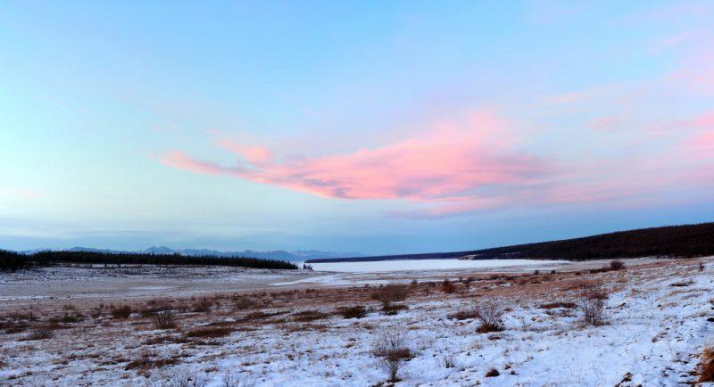 закат над озером Хубсугул, sunset on lake Hovsgol